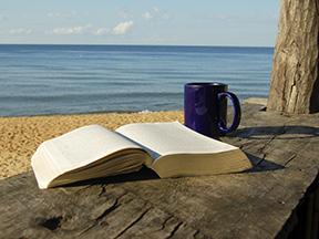 beach book coffee